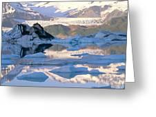 Alsek Glacier In St. Elias Mountains Greeting Card