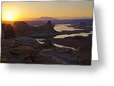 Alstrom Point Sunrise  Greeting Card