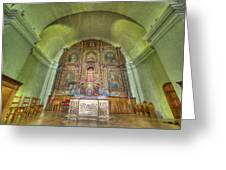 Altar In An Old Chapel Greeting Card