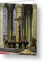 Altar Of Rouen Cathedral Greeting Card