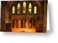 Altar Of St. Patrick's Cathedral Greeting Card by Photography  By Sai