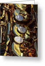 Alto Sax Reflections Greeting Card