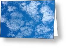 Altocumulus Cloud. Greeting Card
