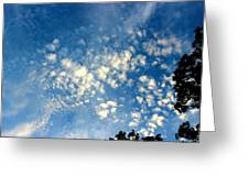 Altocumulus Clouds Greeting Card