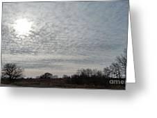 Altocumulus Sun Greeting Card
