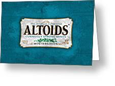 Altoids Wintergreen Scratches Greeting Card