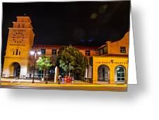 Alvarado Transportation Center Night Greeting Card