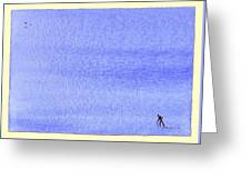 Am I Walking Into Eternity Along Sandymount Strand? Greeting Card