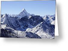 Ama Dablam Mountain Seen From The Summit Of Kala Pathar In The Everest Region Of Nepal Greeting Card