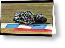 Ama Superbike Josh Jayes From Above Greeting Card