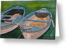 Amalfi Boats Greeting Card