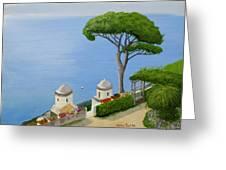 Amalfi Coast From Ravello Greeting Card