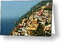 Amalfi Coast Hillside II Greeting Card