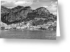 Amalfi Coast Monochrome Greeting Card