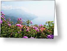 Amalfi Coast View From Ravello Italy  Greeting Card