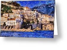 Amalfi Town In Italy Greeting Card