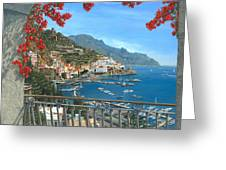 Amalfi Vista Greeting Card