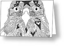 Amarican Eagle Black White Greeting Card