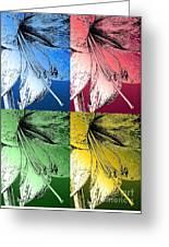 Amaryllis Pop Art Greeting Card