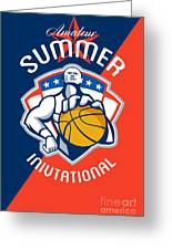 Amateur Summer Invitational Basketball Poster Greeting Card by Aloysius Patrimonio