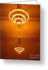Amazing Antique Chandelier - Grand Central Station New York Greeting Card