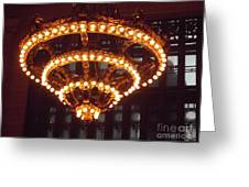 Amazing Art Nouveau Antique Chandelier - Grand Central Station New York Greeting Card
