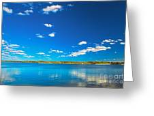 Amazing Clear Lake Under Blue Sunny Sky Greeting Card