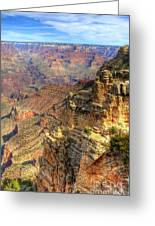 Amazing Colors Of The Grand Canyon  Greeting Card