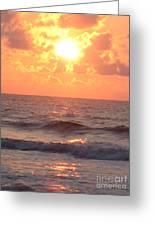Amazing Golden Lavender South Carolina Sunrise Greeting Card