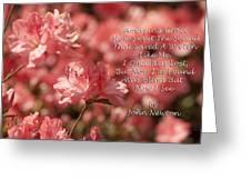 Amazing Grace Azaleas  Greeting Card