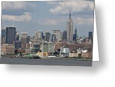 Amazing View Of Nyc Greeting Card