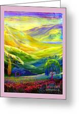 Wildflower Meadows, Amber Skies Greeting Card