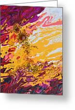 Amber Sun Greeting Card