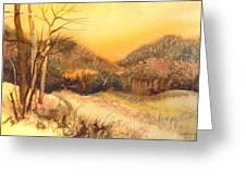 Amber Sunset Greeting Card