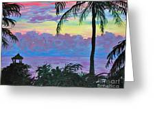 Ambergris Caye Sky Belize Greeting Card