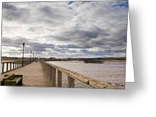 Amble Harbour And Village Greeting Card
