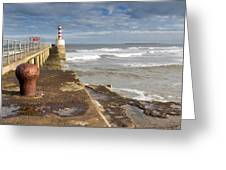 Amble Pier Greeting Card