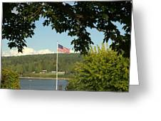 Ameican Flag Greeting Card
