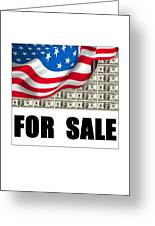 America For Sale Greeting Card
