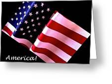 America Greeting Card Greeting Card