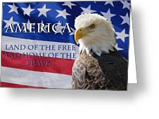 America Land Of The Free Greeting Card