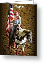 America -- Rodeo-style Greeting Card