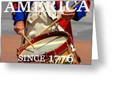 America Since 1776 Greeting Card