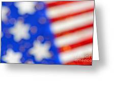 American Abstract Greeting Card