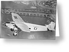 American Airlines Tri-motor Greeting Card