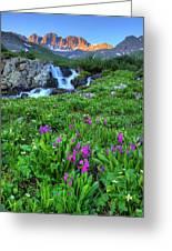 American  Basin Waterfall Greeting Card