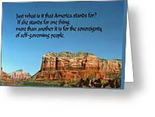 American Belief Greeting Card