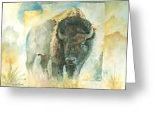 American Bison Buffalo Bull Greeting Card