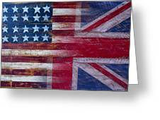 American British Flag Greeting Card by Garry Gay