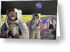 American Cat Astronauts Greeting Card
